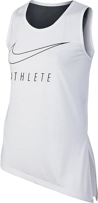 Nike G NK Tank Side Tie GFX T-shirt für Mädchen, Weiß (White