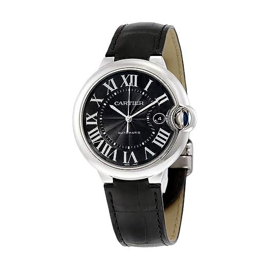 Cartier Ballon Bleu 42 mm Piel de Color Negro Reloj para Hombres wsbb0003: Amazon.es: Relojes