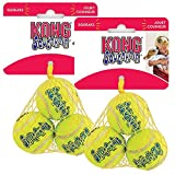 KONG Air Dog Squeakair Dog Toy Tennis Balls, X Small (6 Pack)
