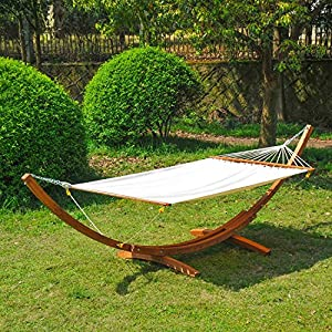 Outsunny 4 Metre Garden Outdoor Patio Wood Wooden Hammock