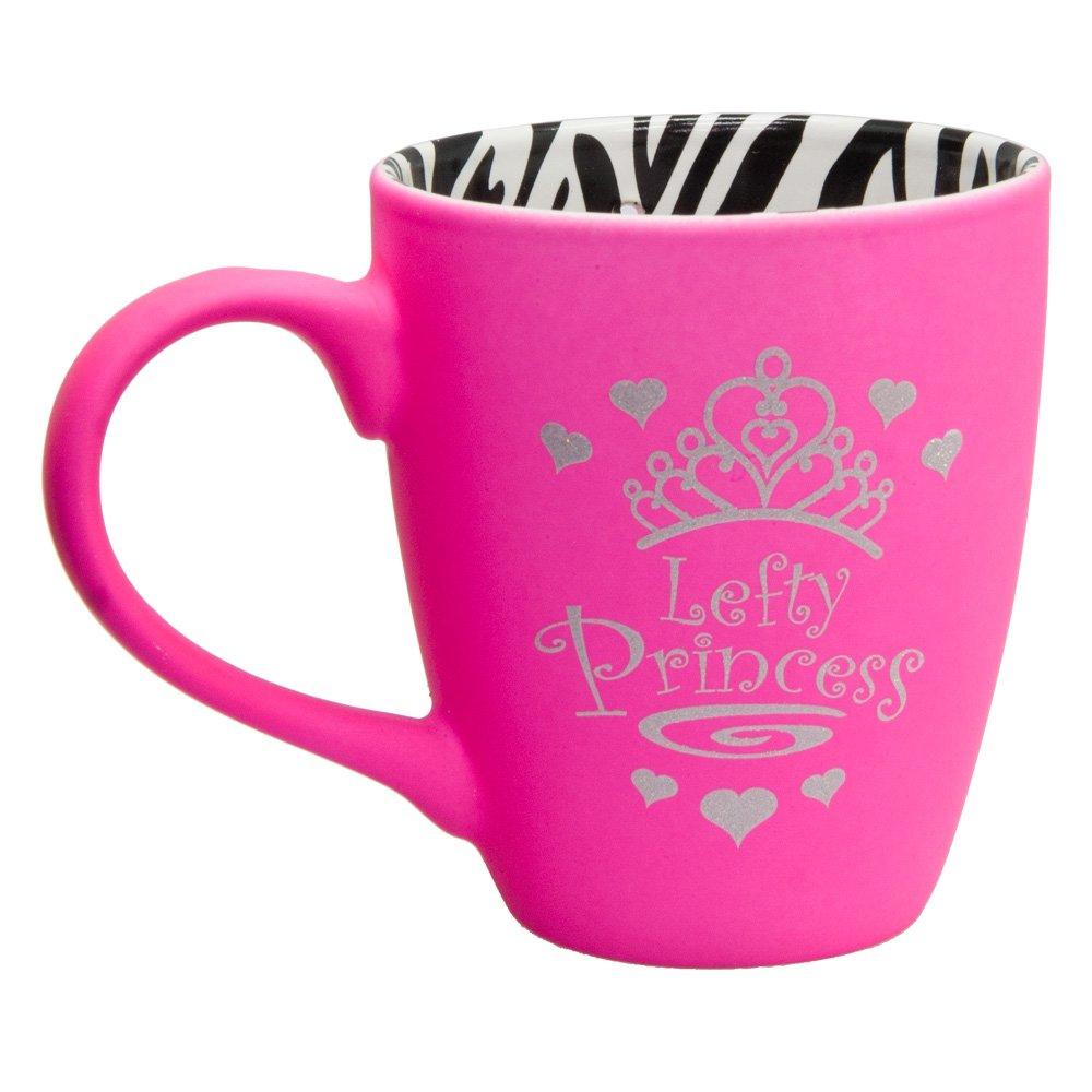 Lefty Princess Dribble Mug Pink with Zebra Print Interior