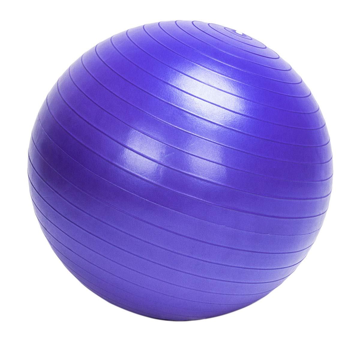 Gentle Women 85cm Fitness Ball/Home Explosion-Proof Yoga Ball with Fast Pump for Office and Home and Gym (Purple)