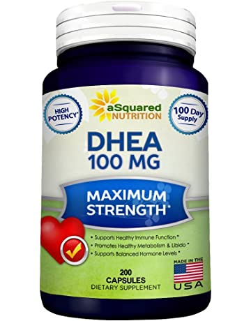 Pure DHEA (100mg Max Strength, 200 Capsules) to Promote Balanced Hormone Levels for