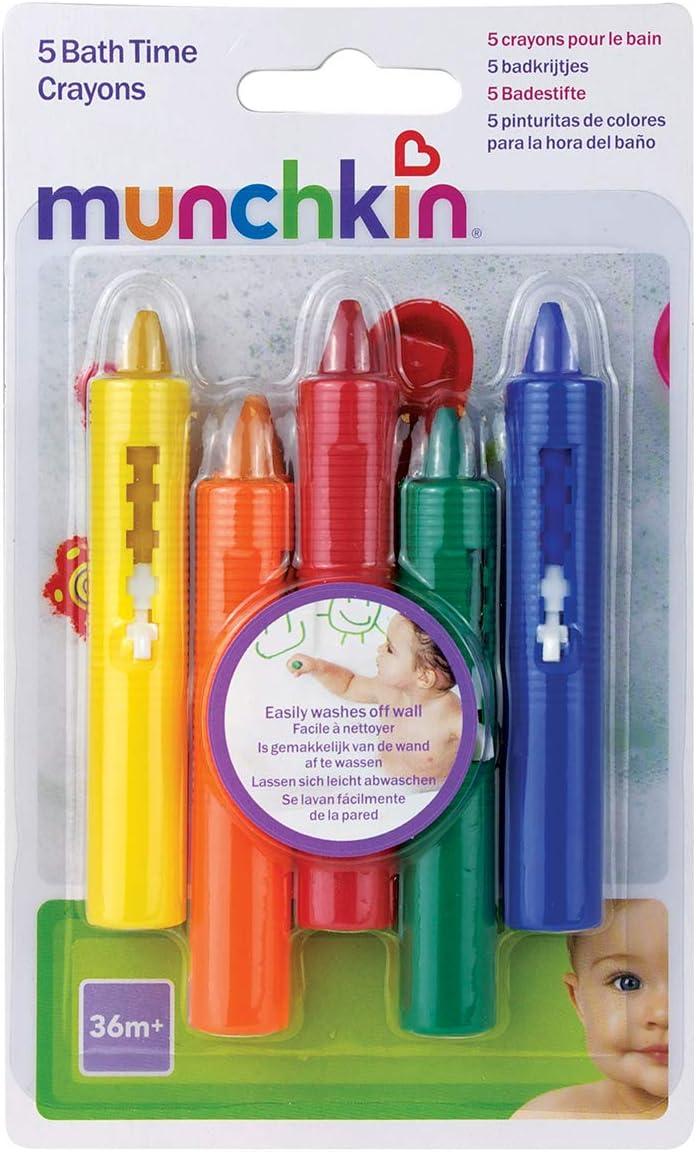 Munchkin - Juguete de baño, 5 lápices de colores: Amazon.es ...