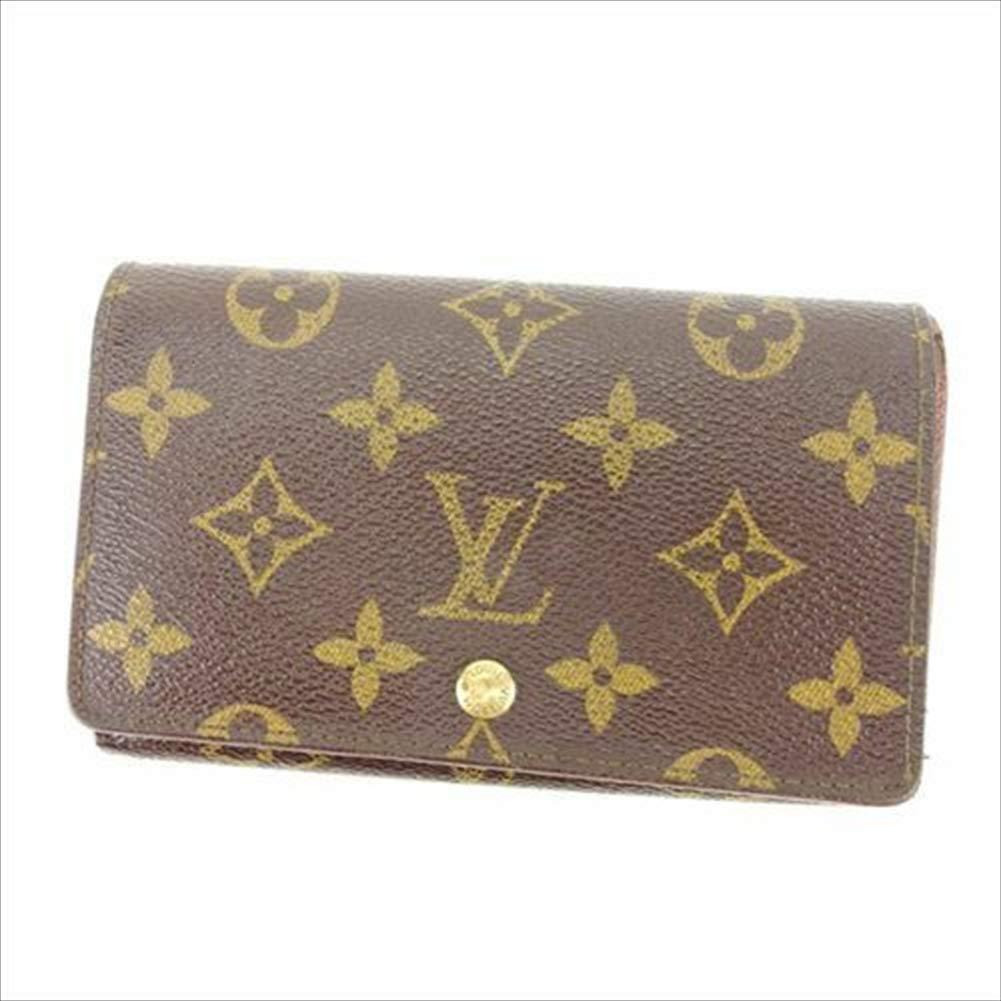 ルイヴィトン Louis Vuitton L字ファスナー財布 二つ折り メンズ可 ポルトモネビエトレゾール M61730 モノグラム 中古 人気 T10953   B07R49Q28C