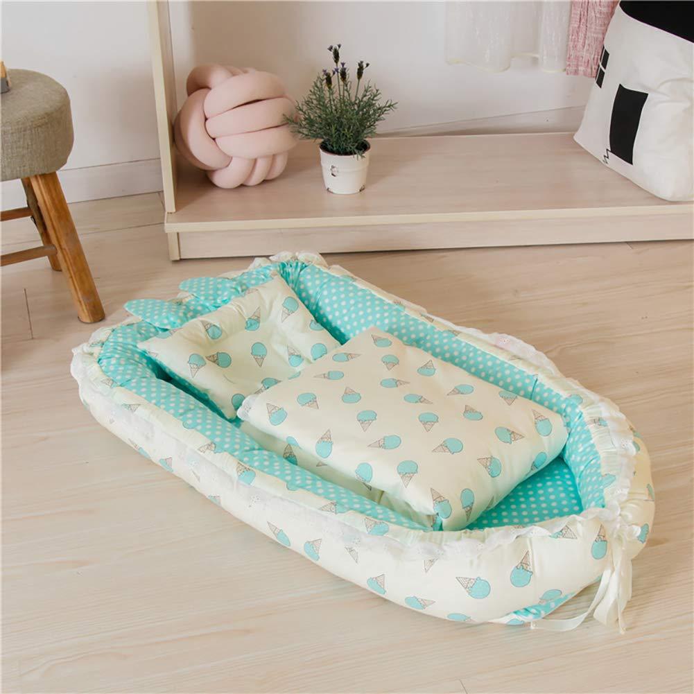 Amazon.com: Bebé Nido Bassinet para cama diseño encaje bebé ...