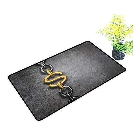 Amazon com: gmnalahome Large Door Mats Shoes Scraper Chain Link