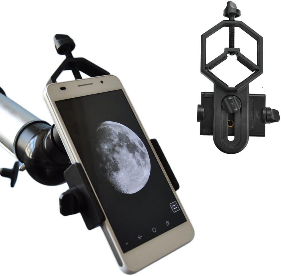 Solomark universal adaptador de teléfono y Mount Soporte de trípode para Smartphone Sony Samsung Moto - Cámara de catalejo/Telescopio/Microscopio/Binocular