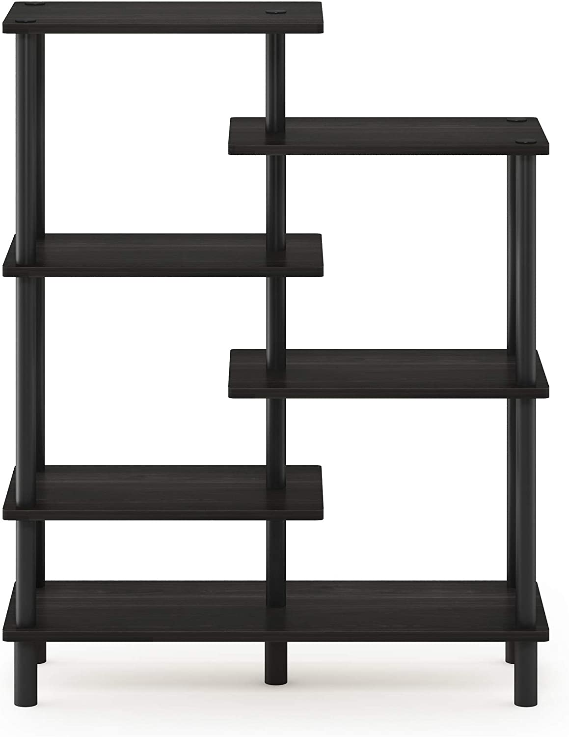 Furinno Turn-N-Tube 6-Tier Accent Display Rack, Espresso/Black
