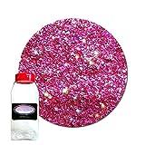 Glitter My World! Fine Glitter Cosmetic Holographic: Pink-Tastic! 1 lb Jar