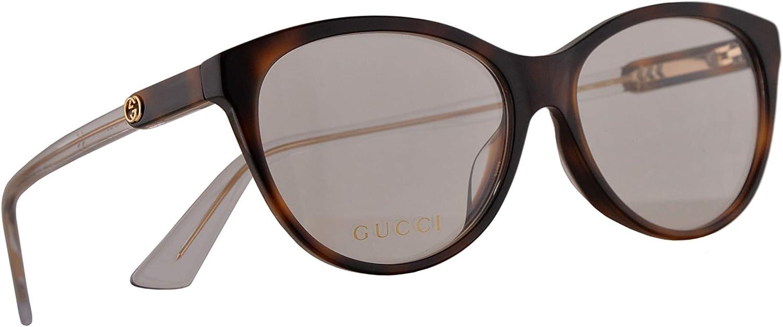 Gucci GG0486OA Gafas 55-15-150 Havana Con Lentes De Muestra 003 GG 0486OA: Amazon.es: Ropa y accesorios