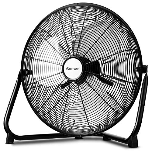 MD Group Floor Fan 3-Speed High Velocity 16'' Air Industrial Adjustable 360 Degree Wall Mount Floor Fan by MD Group