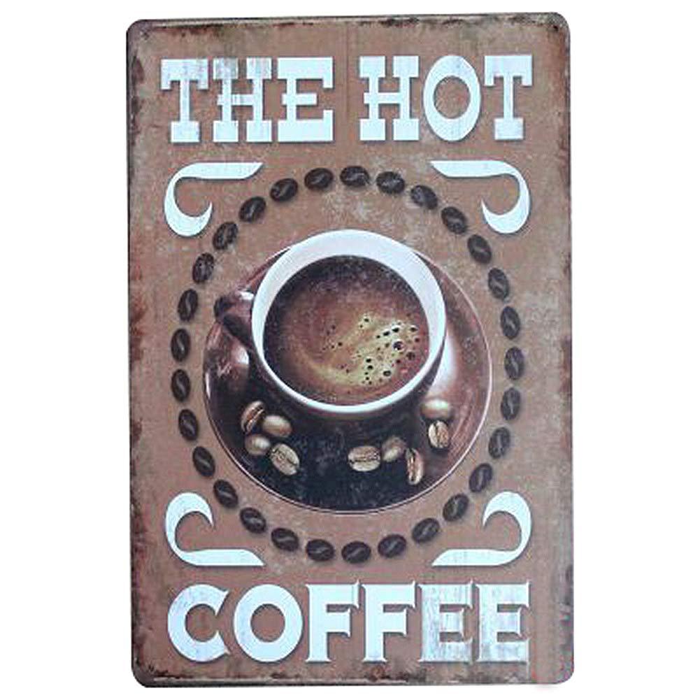 30cm Coffee Topdo 1pcs Poster M/étallique Affiche Peinture Art D/écoratif Vintage Bar Caf/é Pub Vintage Poster Mural r/étro Plaque en m/étal Bar Pub 20