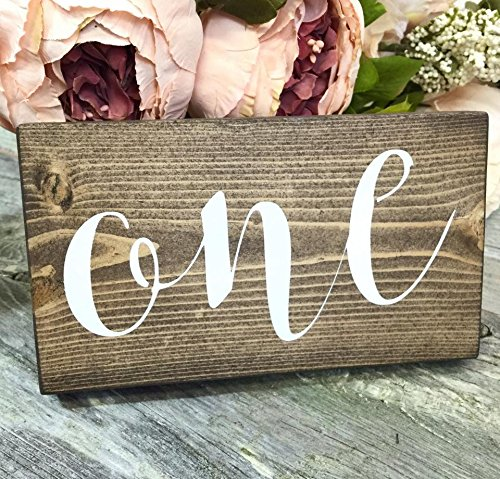 Amazon.com: Set of 20 Rustic Wedding Table Numbers - Wedding Table ...