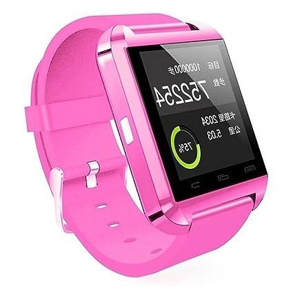 Reloj inteligente U8 con Bluetooth, pantalla táctil, manos libres, llamada al aire libre, podómetro, cronómetro, ...