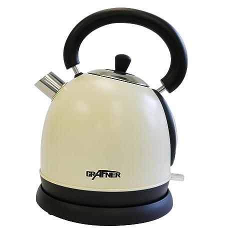 automatische Abschaltung Schnellkoch-Wasserkocher 3000 Watt Leistungsaufnahme F/üllmenge max 1,8 Liter Wasserkocher 3000 Watt Edelstahl Teekessel Arendo Silber Schwarz