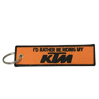 Supbike New Rectangle Tag Keychain Superbike Motorbike Racing Motorcycle Car Bike Keychain Fast Speed Fit for KTM Duke 250 KTM Duke 390 KTM RC 390 KTM RC 200 KTM Duke 200: Automotive