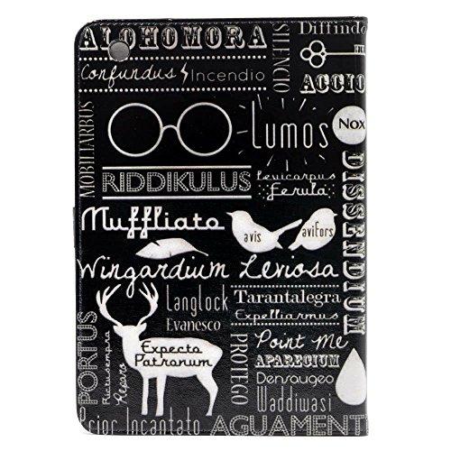 YHB ipad mini Case Magic Spells Alohomora Riddikulus Pattern Leather Flip Stand Case Cover For Apple ipad mini 1, ipad mini 2 Retina,ipad mini 3