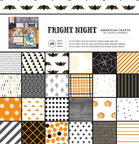 American Crafts 48 Sheet Halloween Patterned Paper Pad