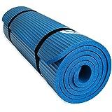 YUREN Esterilla para Yoga 183cm x 61cm 15mm Grosor Pilates Gimnasia Yoga Colchoneta Esterilla Antideslizante NBR Yoga…
