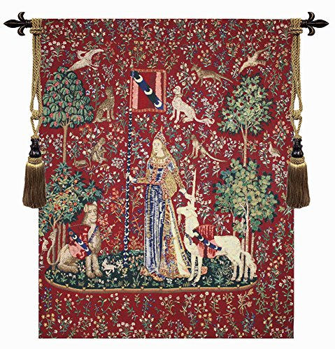 Touch, Lady and Unicorn Belgian Tapestry for sale  Delivered anywhere in USA