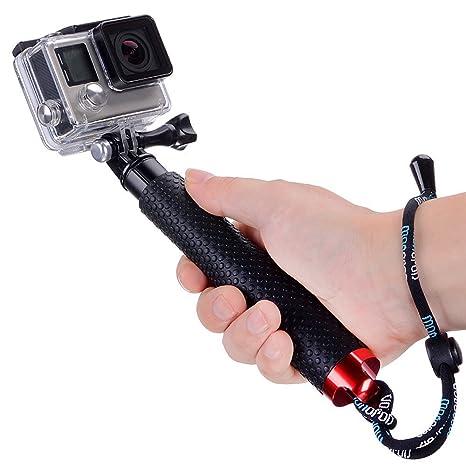 Moonlight Tech - Palo de selfie impermeable, extensible, telescópico, accesorio GoPro