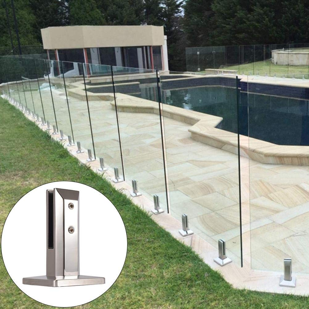 Handrails Glazing Jaspenybow Stainless Steel Glass Clamp Stainless Steel Glass Pool Fence Spigot Balustrade Post Clamp Bracket Ideal Metal Wall Post Bracket Mount Holder For Balustrades