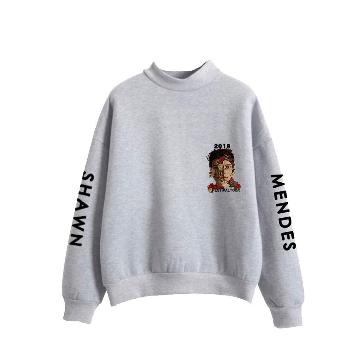 CTOOO Felpa con Collo Alto Shawn Mendes Abbigliamento Commemorativa Donna Uomo XXS-XXXL
