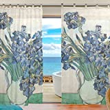 2 Piece colorful Window Curtains/drape/panels/treatment size 55″x78″,Van Gogh For Sale