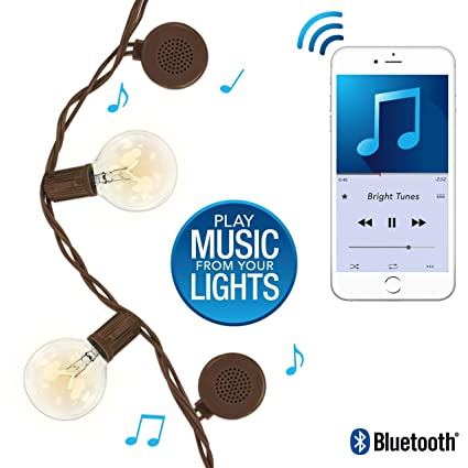 Bluetooth Speaker String Lights Awesome Amazon Patio String Lights With Builtin Bluetooth Speakers