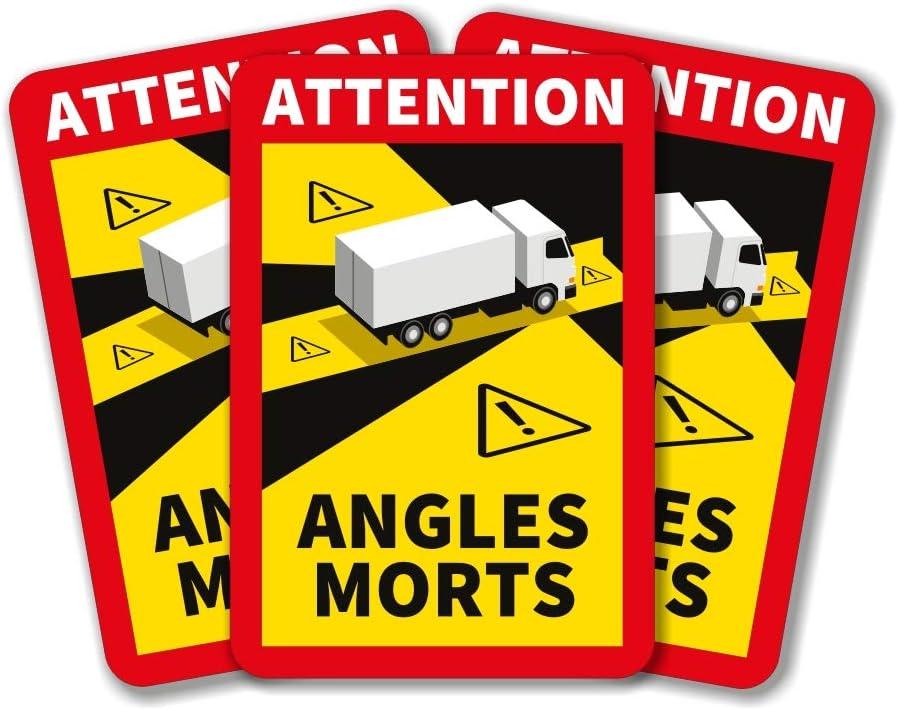 lepni.me Ángulo Muerto Lote de 1/3/5/6/12/30/50/100 Pegatinas Attention Angles Morts para Camiones Pesados o autobuses (6PCX Camión)
