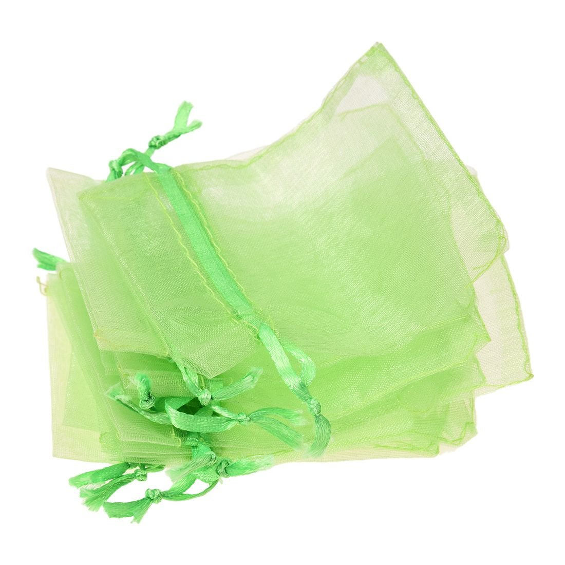 Gift Bags - SODIAL(R)10 PCS 7x9cm Organza Jewelry Candy Gift Pouch Bags Wedding Xmas Favors Green LEPAZIK637