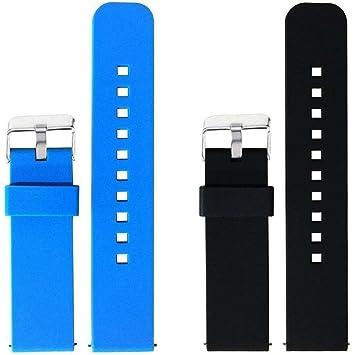 Amazon.com : ECSEM 2pcs Replacement Silicone Bands Straps ...