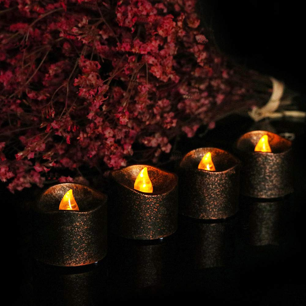 4x Flickering Led TeaLight Battery Fake Candle Valentine/'s Day Christmas Wedding