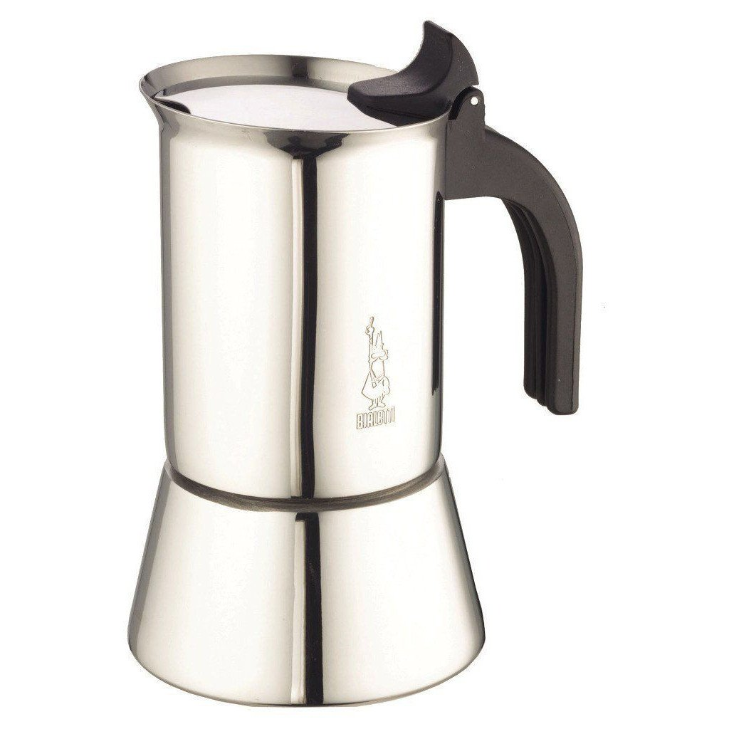 Bialetti Elegance Venus Induction 10 Cup Stainless Steel Espresso Maker by La Cafetiere by La Cafetiere