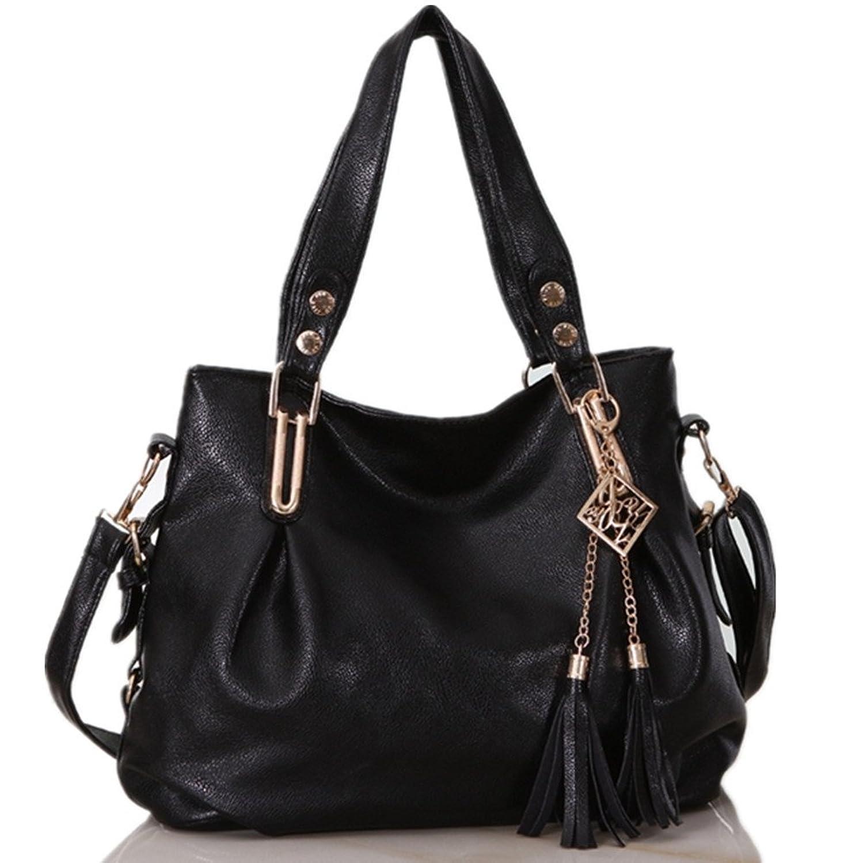 Emoyi Womens Leather Shoulder Handbag CrossBody Bag Purse Top