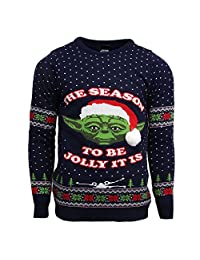 Numskull Official Star Wars Master Yoda Christmas Jumper/Ugly Sweater - (UK L/US M)