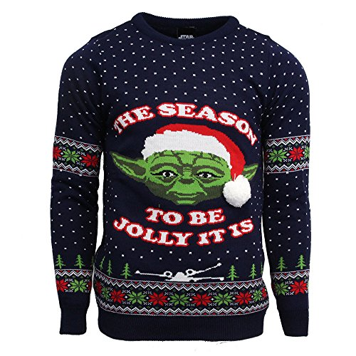 Official Star Wars Master Yoda Christmas Jumper/Ugly Sweater - UK S/US XS