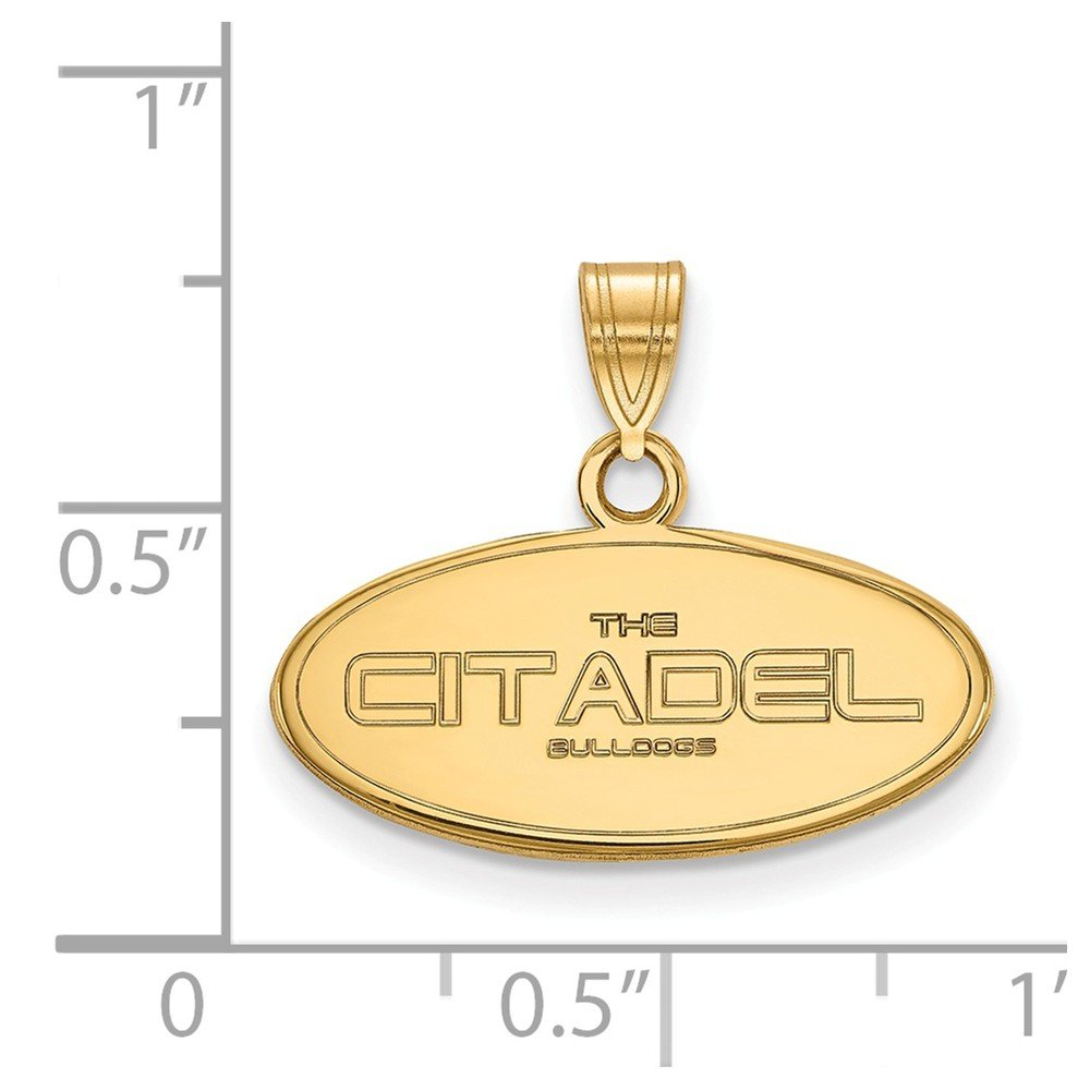 Jewel Tie 925 Sterling Silver with Gold-Toned The Citadel Small Pendant 20mm x 17mm