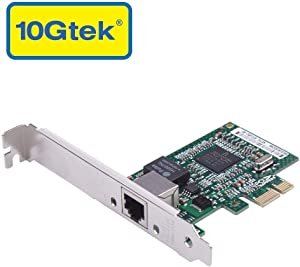 10Gtek for Broadcom BCM5751 Chip 1G Gigabit Ethernet PCIE Converged Network Adapter(NIC), Single Copper RJ45 Port, PCI Express X1, Compare to Broadcom BCM5751-T1