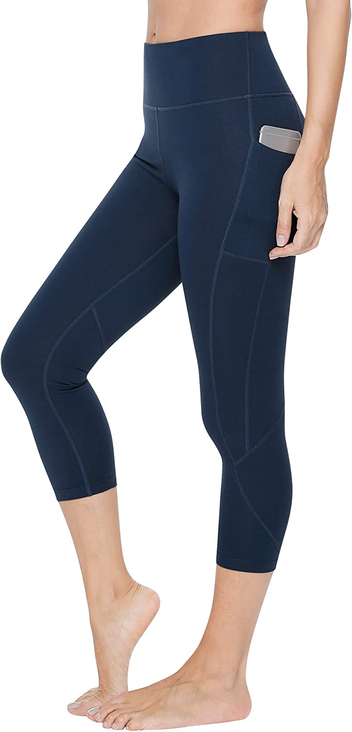 VUTRU Women's Yoga Capri Pants Sport Tights Workout Running Yoga Leggings with Pocket