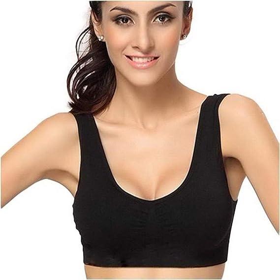 LOUZHENI Sujetador Super Comfort, Sujetadores Deportivos para Mujer Sujetadores Grandes para Dormir para niñas en Yoga Bralette Ocio Estiramiento Blusas ...