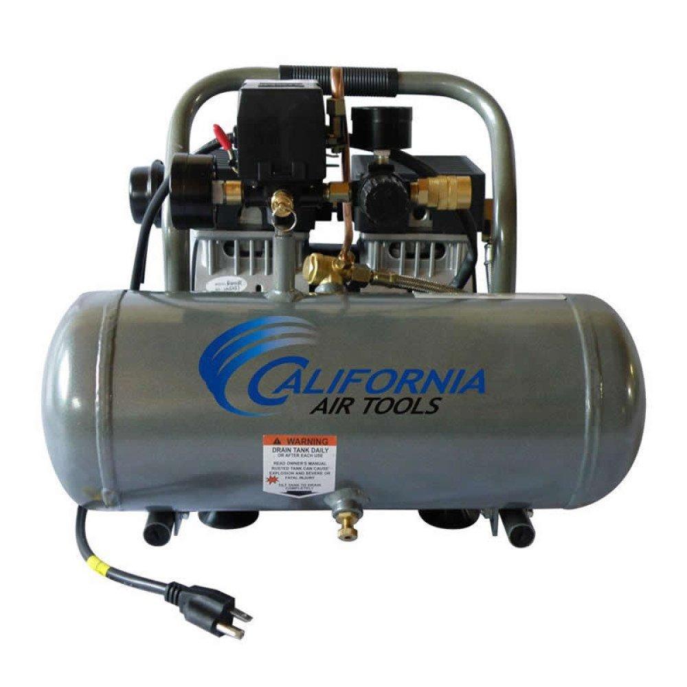 Ultra Quiet Air Compressor (1.6 Gallon Tank, 1/2HP Motor) with Glue Card