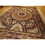 Silk Persian Qum Area Rugs 5x8 Beige Rug Living Room Rugs Luxury Rugs Ivory Carpet 5x7 Dining Room Carpet (Medium 5'x8')