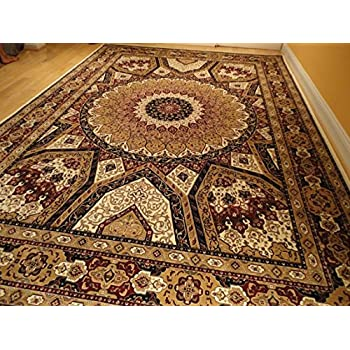Silk Persian Qum Area Rugs 5x8 Beige Rug Living Room Luxury Ivory Carpet 5x7 Dining Medium
