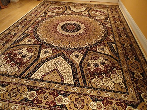 Silk Persian Qum Area Rugs 5x8 Beige Rug Living Room Rugs Luxury Rugs Ivory Carpet 5x7 Dining Room Carpet (Medium 5'x8') Qum Silk Rugs