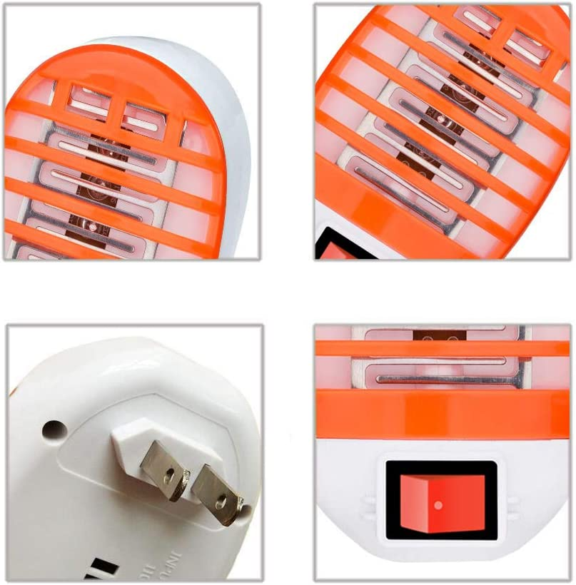 Bug Zapper Mosquito Killer Lamp Electronic Insect Killer Eliminates Most Flying Pests Indoor Orange
