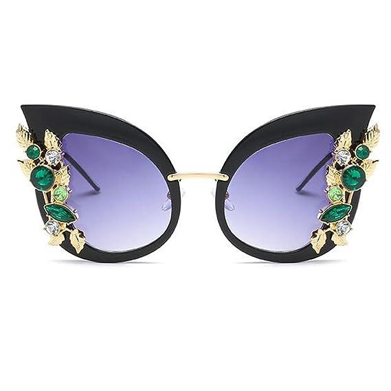 Inlefen Gafas de sol mujer ojo de gato Gafas de gran tamaño ...