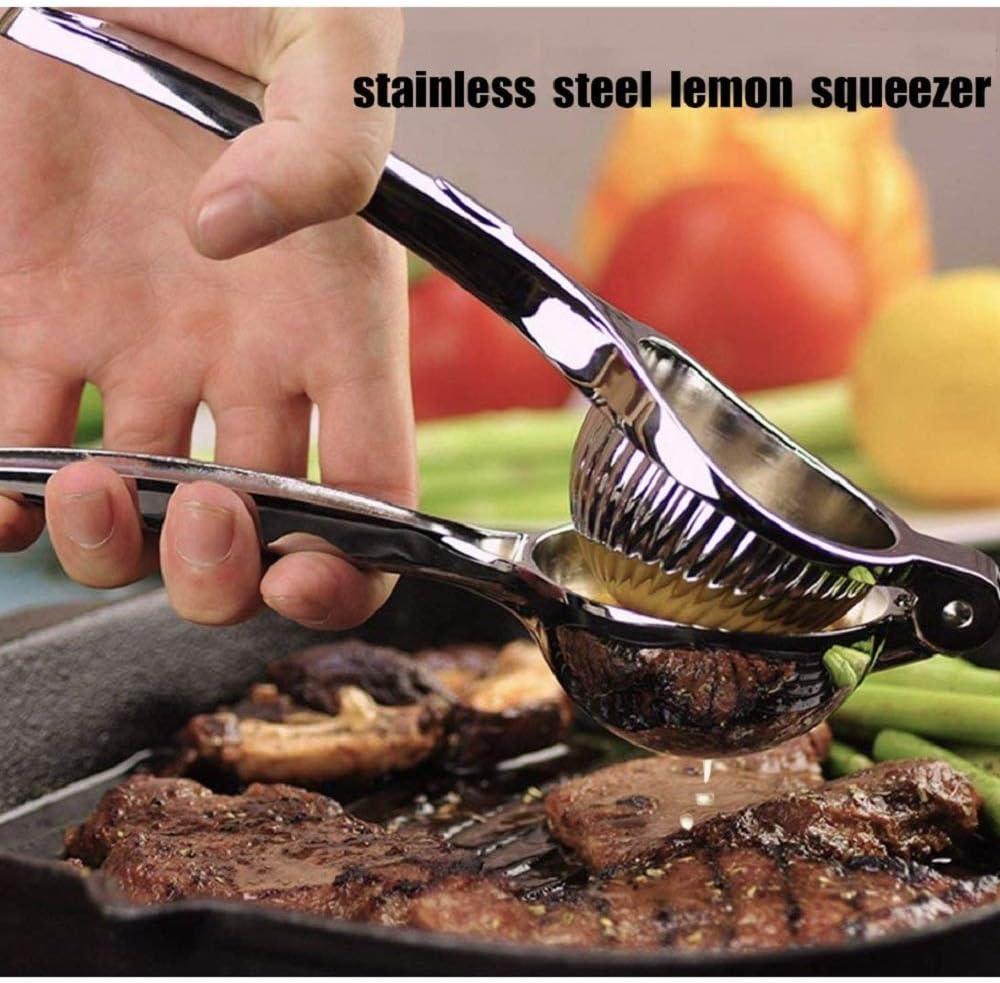 DflowerK Lemon Squeezer Citrus Orange Lime Juicer Stainless Steel Large Manual Juicer