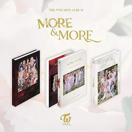 9th Mini Album Album+Pre-Order Benefit+Folded Poster+Extra Photocards Set JYP Twice B ver. More /& More